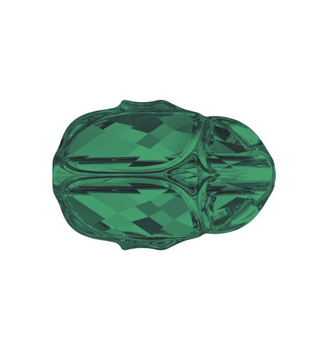 12MM Emerald (205) 5728 Scarab Bead SWAROVSKI ELEMENTS