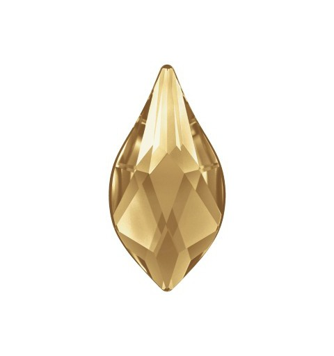 14MM Crystal Golden Shadow F (001 GSHA) 2205 Flame Flat Back SWAROVSKI ELEMENTS