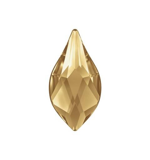 14MM Crystal Golden Shadow F (001 GSHA) 2205 Flame Lame Põhjaga SWAROVSKI ELEMENTS