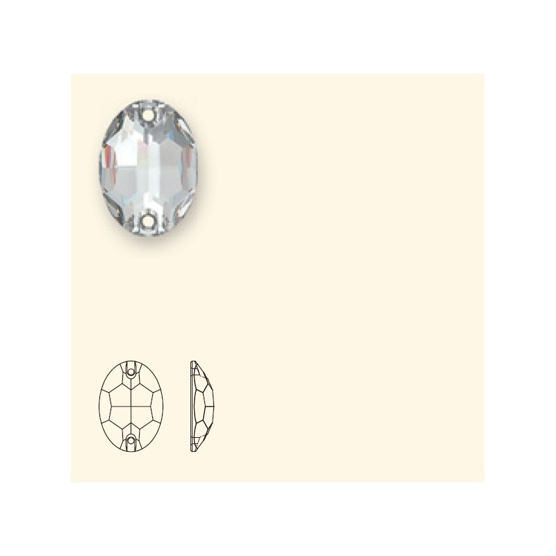 24x17MM Crystal F (001) 3210 Oval SWAROVSKI ELEMENTS