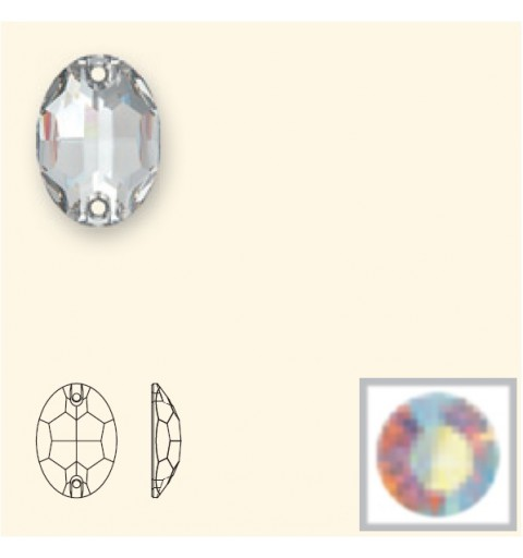 16x11MM Crystal AB F (001 AB) 3210 Oval SWAROVSKI ELEMENTS