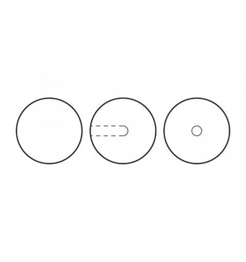 12MM Bronze (78800) Nacre Pearl round – semi 1/2H Preciosa
