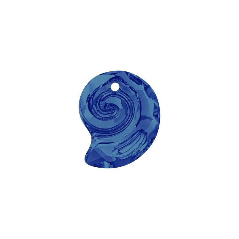 14MM Crystal Bermuda Blue VP (001 BBV) Sea Snail Pendant PF 6731 SWAROVSKI ELEMENTS
