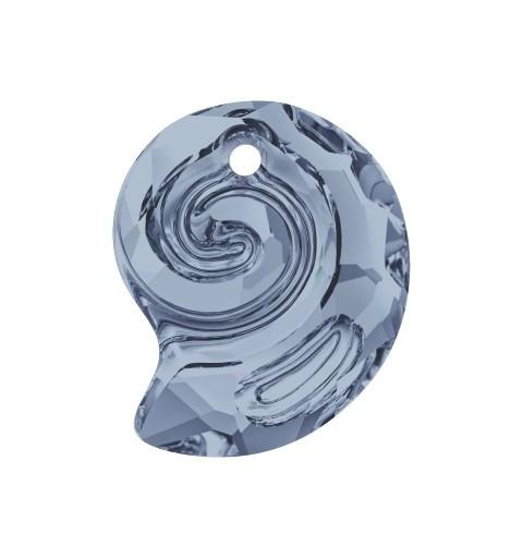 14MM Crystal Blue Shade (001 BLSH) Sea Snail Pendant PF 6731 SWAROVSKI ELEMENTS
