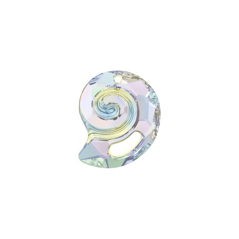 28MM Crystal AB (001 AB) Sea Snail Ripatsid PF 6731 SWAROVSKI ELEMENTS
