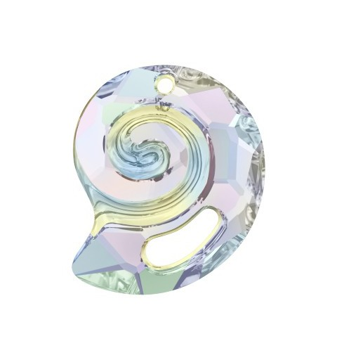 28MM Crystal AB (001 AB) Sea Snail Pendant PF 6731 SWAROVSKI ELEMENTS