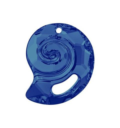 28MM Crystal Bermuda Blue VP (001 BBV) Sea Snail Pendant PF 6731 SWAROVSKI ELEMENTS