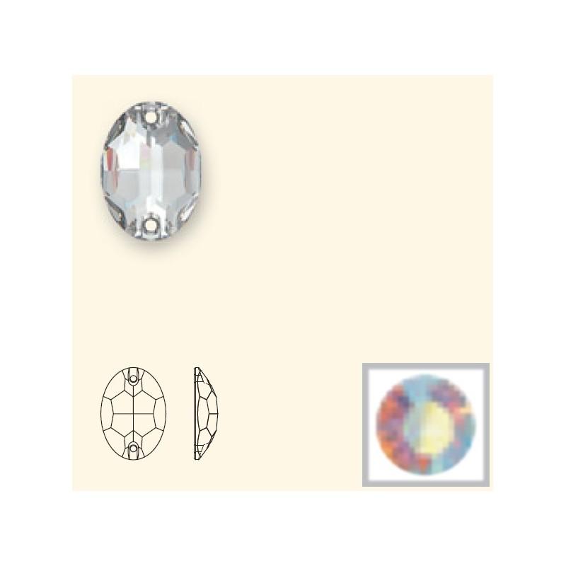16x11MM Crystal AB F (001 AB) 3210 Oval SWAROVSKI ELEMENTS