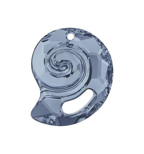28MM Crystal Blue Shade (001 BLSH) Sea Snail Pendant PF 6731 SWAROVSKI ELEMENTS
