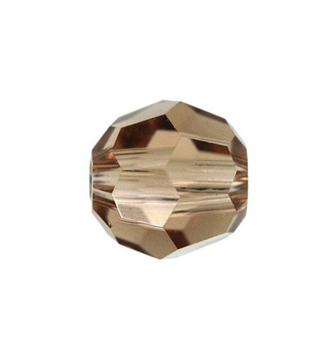 8MM Light Smoked Topaz (221) 5000 Round Bead SWAROVSKI ELEMENTS
