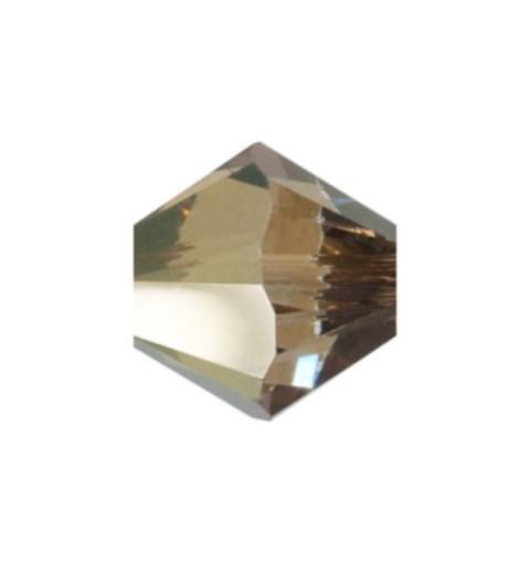4MM Crystal Bronze Shade (001 BRSH) 5328 XILION Bi-Cone Beads SWAROVSKI ELEMENTS