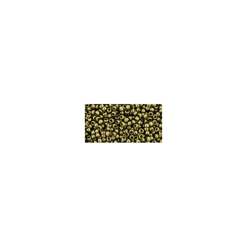 TR-11-324 Gold-Lustered Prairie Green TOHO Seed Beads