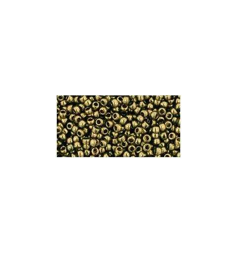 TR-11-324 Gold-Lustered Prairie Green TOHO Seemnehelmed