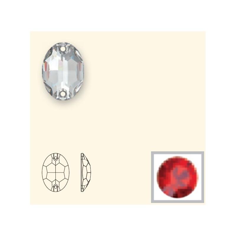 10x7MM LIGHT SIAM F (227) 3210 Oval SWAROVSKI ELEMENTS