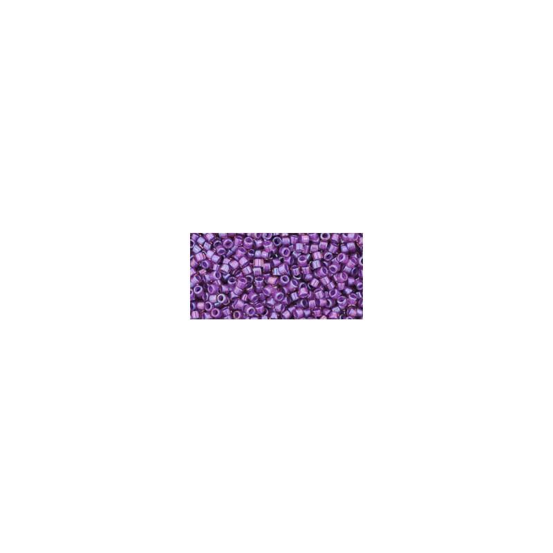 TT-01-928 Inside-Color Rainbow Rosaline/Opaque Purple Lined TOHO Treasures Seed Beads