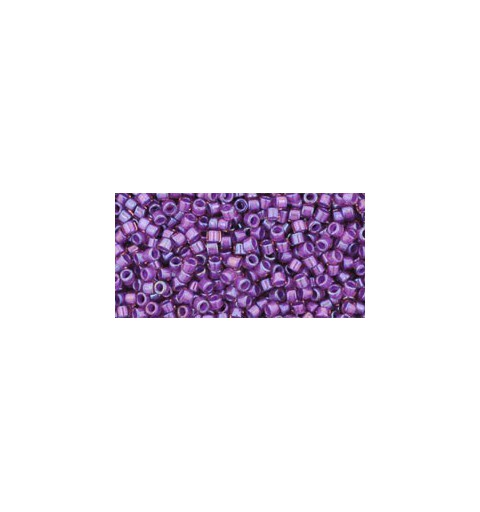 TT-01-928 Inside-Color Rainbow Rosaline/Opaque Purple Lined TOHO Treasures Seed Beads