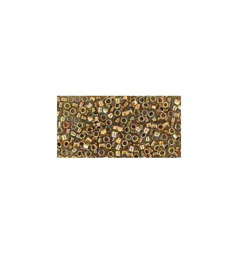 TT-01-994 Gold-Lined Rainbow Crystal TOHO Treasures Seed Beads