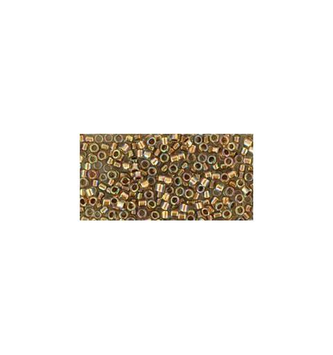TT-01-994 Gold-Lined Rainbow Crystal TOHO Treasures Seemnehelmed