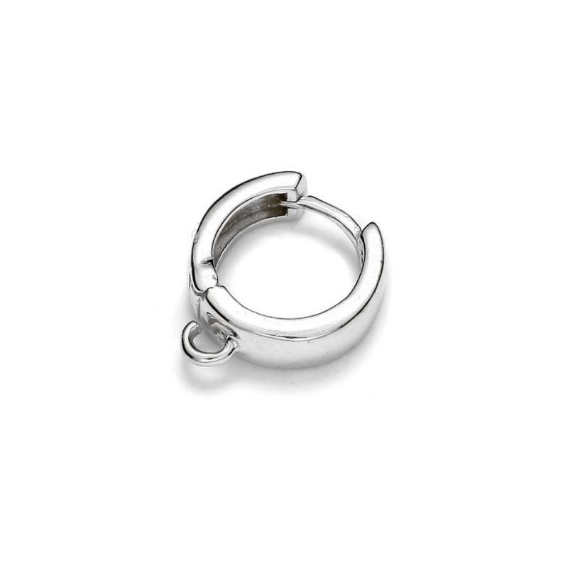 Серебрянная (Стерлинг) основа для серёжки со штифтом 15.6MM