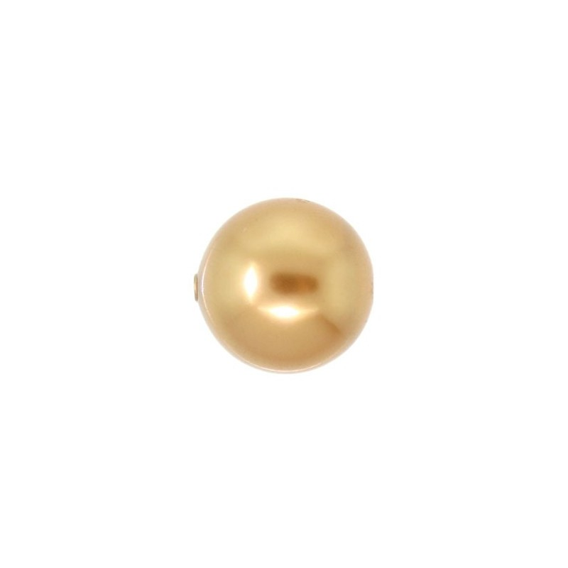 10MM Crystal Bright Gold Pearl (001 306) Large Hole 5811 SWAROVSKI ELEMENTS