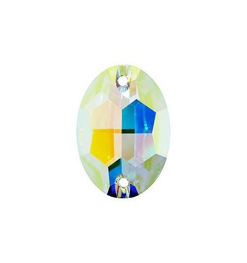 24x17MM Crystal AB F (001 AB) 3210 Oval SWAROVSKI ELEMENTS