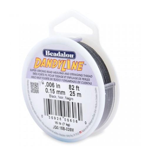 0.15mm Dandyline Beadalon must nailon nöör 25m