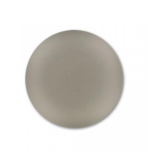 18mm Black Diamond Lunasoft Lucite Round Cabochon
