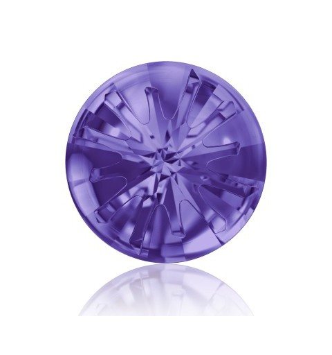 10MM Tanzanite F (539) 1695 Sea Urchin Round Stone PF SWAROVSKI ELEMENTS