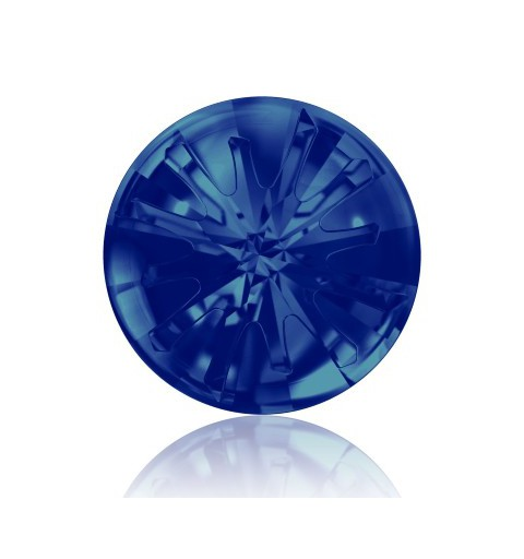 14MM Crystal Bermuda Blue F (001 BB) 1695 Sea Urchin Round Stone PF SWAROVSKI ELEMENTS