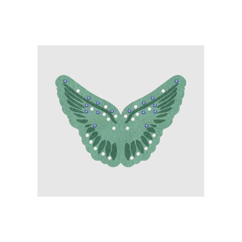 Butterfly 88408 Pastel Turquoise Crystal Leatherette-it 71x50mm