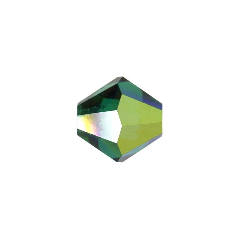 4MM Emerald (50730) BiCone Rondell Preciosa бусины