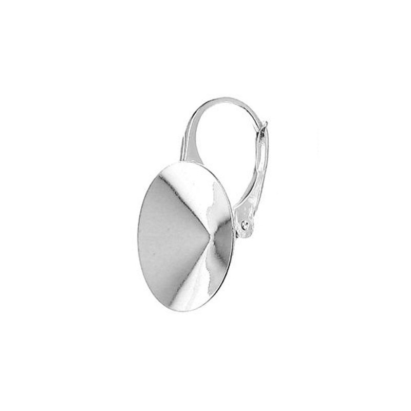 For rivoli 1122 14mm approx. 24,5X14mm Swarovski Silver Lever back with setting