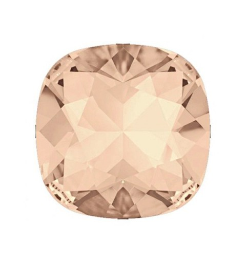12MM Light Peach DF (90300) square fancy stone Czech Preciosa