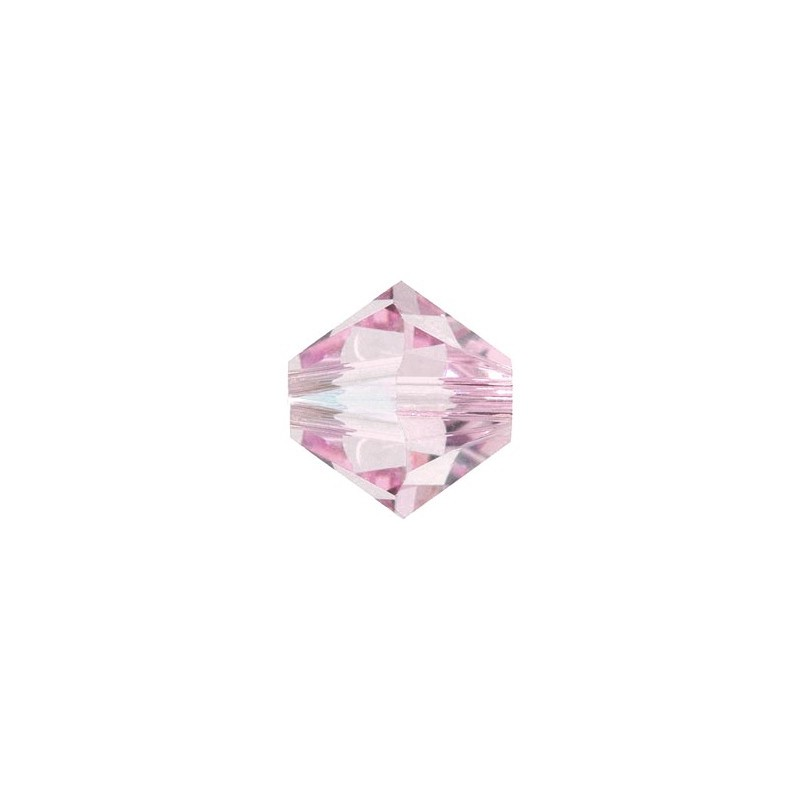 4MM Rosaline (508) 5328 XILION Bi-Cone Beads SWAROVSKI ELEMENTS