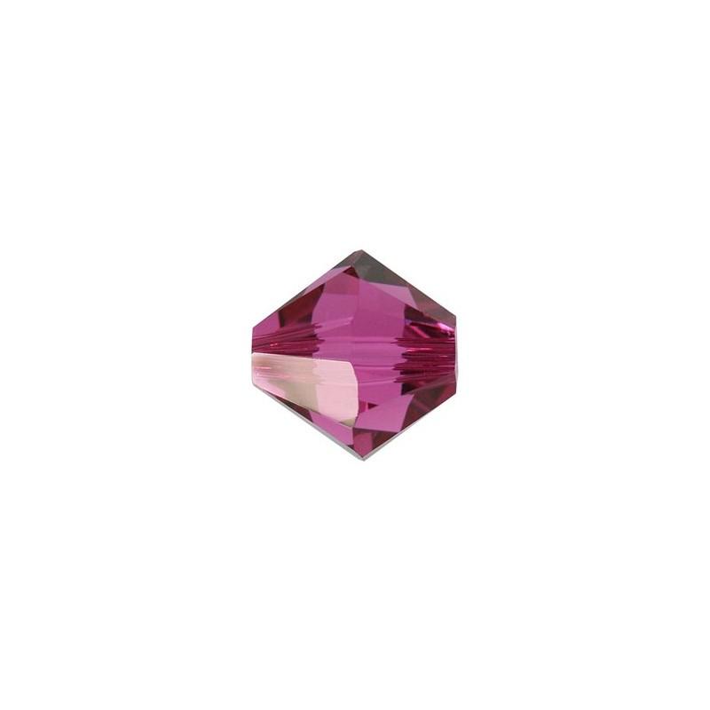 3MM Fuchsia (502) 5328 XILION Bi-Cone Beads SWAROVSKI ELEMENTS