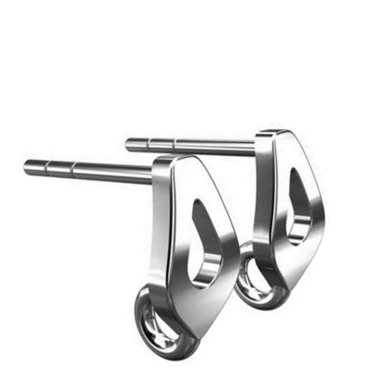 Серебрянный 925 гвоздик для серёжки с колцом 6.8X15MM