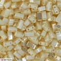 HTL-420 White Pearl Ceylon Miyuki Half Tila SEED BEADS