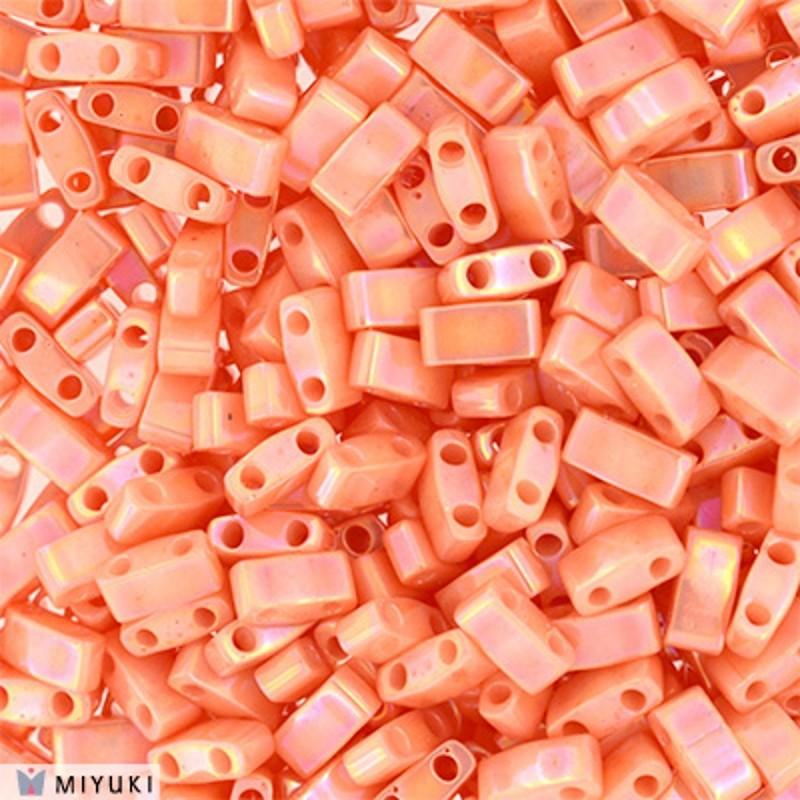 HTL-593 Light Caramel Ceylon Miyuki Half Tila SEED BEADS