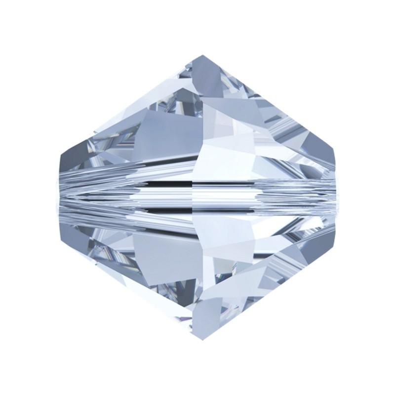 4MM Crystal Blue Shade (001 BLSH) 5328 XILION Bi-Cone Beads SWAROVSKI ELEMENTS
