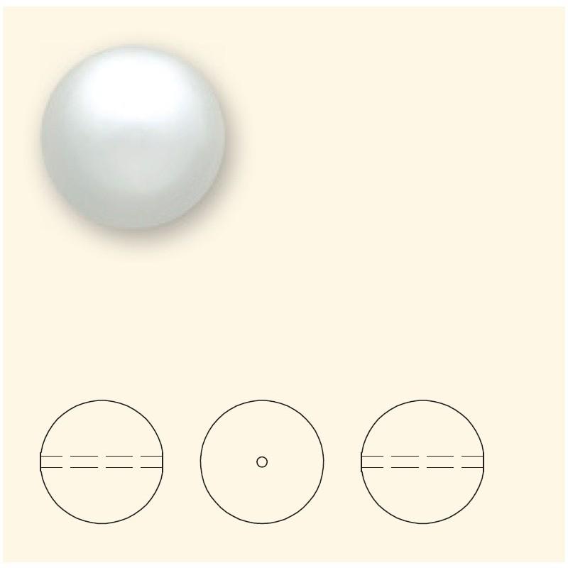 6MM Valge Crystal Ümmargune Pärl (001 650) 5810 SWAROVSKI ELEMENTS