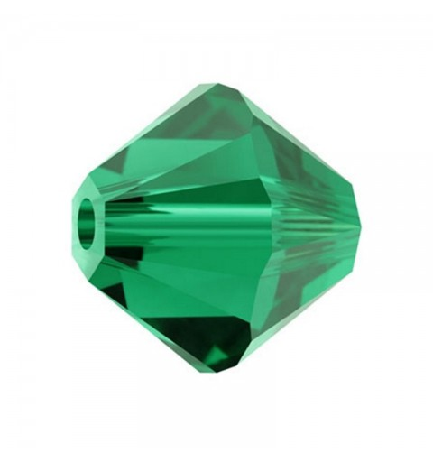 3MM Emerald (205) 5328 XILION Bi-Cone Beads SWAROVSKI ELEMENTS