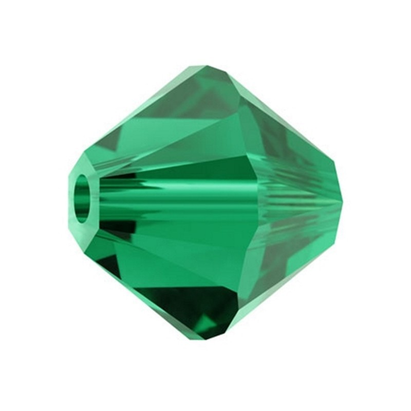 4MM Emerald (205) 5328 XILION Bi-Cone Helmed SWAROVSKI ELEMENTS