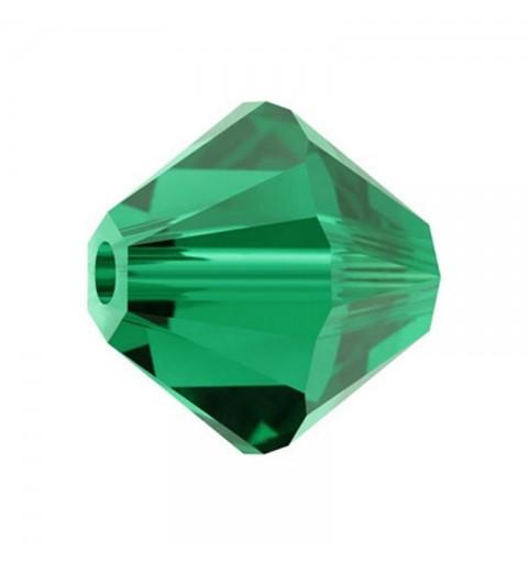 4MM Emerald (205) 5328 XILION Bi-Cone Beads SWAROVSKI ELEMENTS