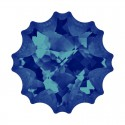 22mm Crystal Bermuda Blue F (001 BB) Meduus Ehete Kristall 4195 Swarovski Elements