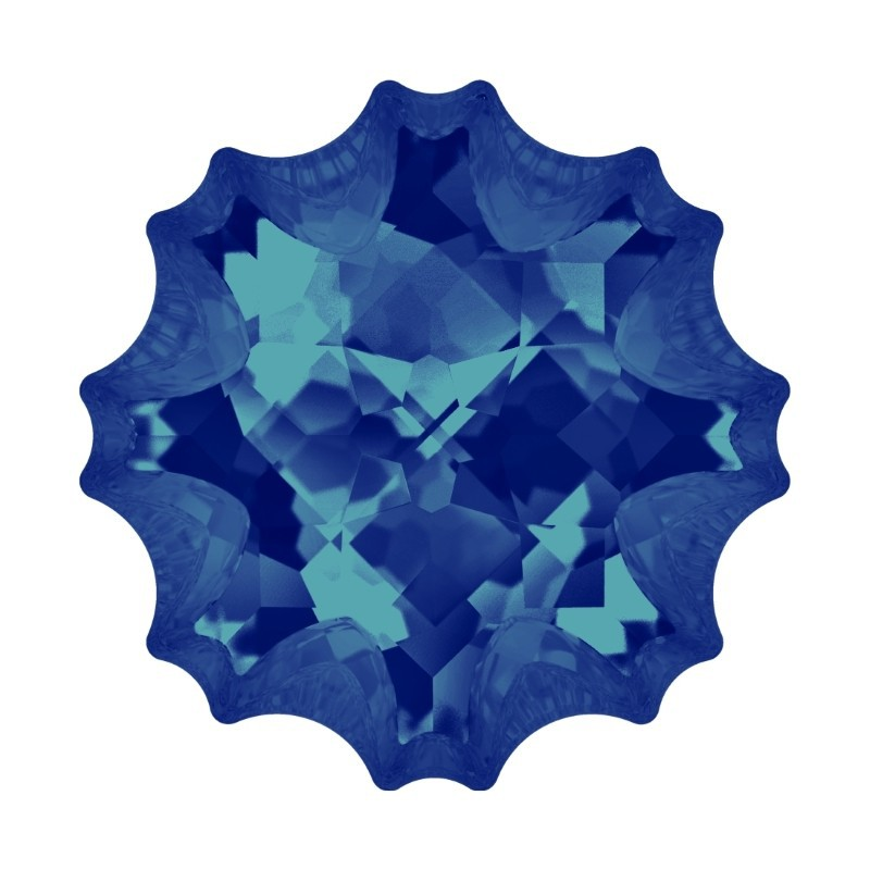 22mm Crystal Bermuda Blue F (001 BB) Jelly Fish Fancy Stone 4195 Swarovski Elements