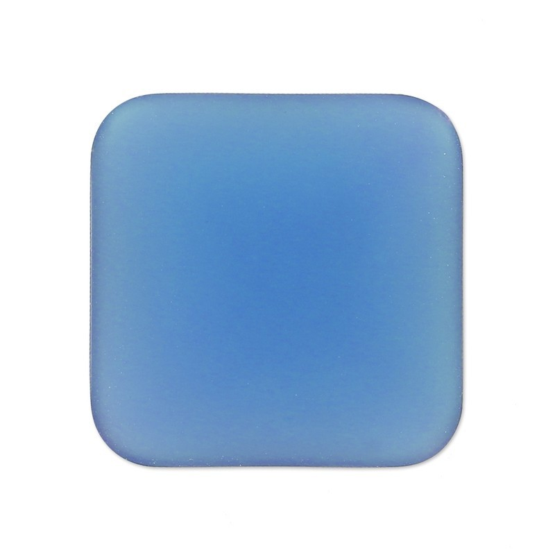 22mm Denim Blue Lunasoft Lucite Square Cabochon