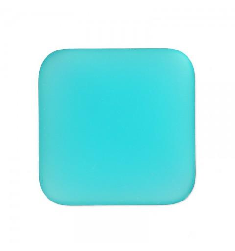 22mm Blue Zircon Lunasoft Lucite Square Cabochon
