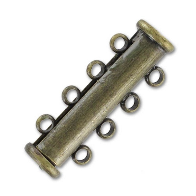 магнитная выдвигающаяся застёжка тон Золота 4 ряда прибл. 11x25мм