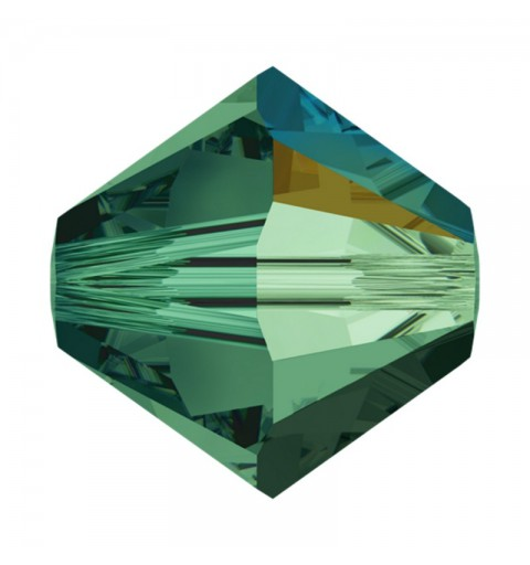 3MM Emerald AB (205 AB) 5328 XILION Bi-Cone Helmes SWAROVSKI ELEMENTS