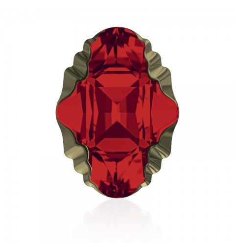 14x10mm Light Siam Met Lt Gold Z F (227 MLGDZ) Oval Tribe Fancy Stone 4926 Swarovski Elements